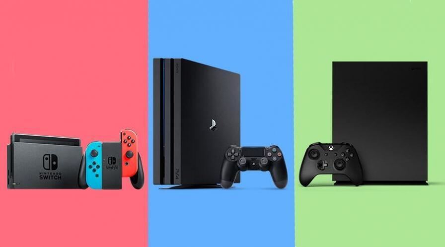 xbox one x ps4 pro nintendo switch